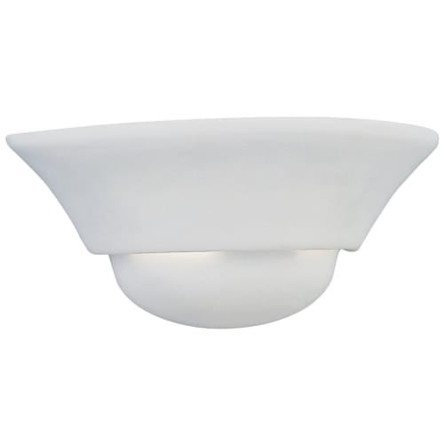 Designers Fountain 6031-WH 1 Light Wall Sconce with Paintable Ceramic - White