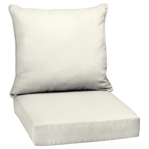 Arden Selections Acrylic Sand Canvas Texture Outdoor Deep Seat Set - 24 W x 24 D in.