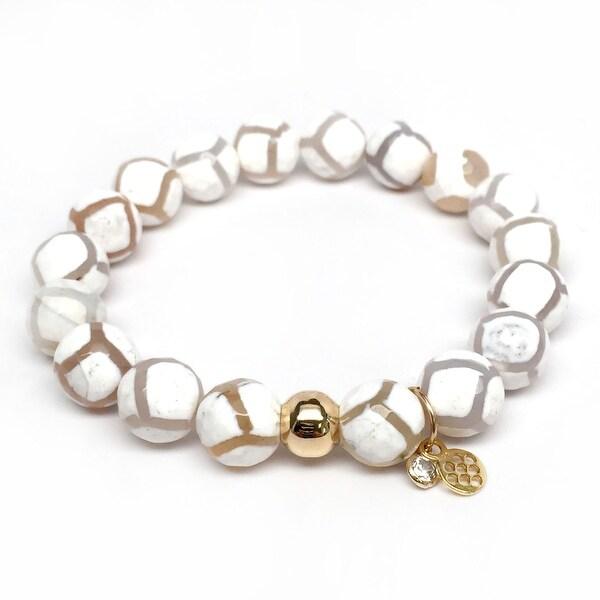 """White Agate Emma 7"""" Bracelet"""