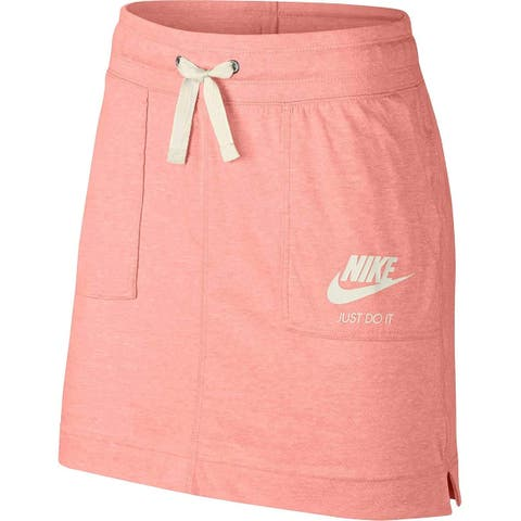 Nike Women's Gym Vintage Skirt Bleached Coral Size Extra Small - Pink - X-Small