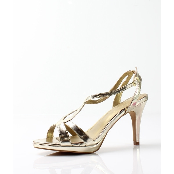 Amiana NEW Gold Women's Shoes Size 8M Metallic Strappy Sandal