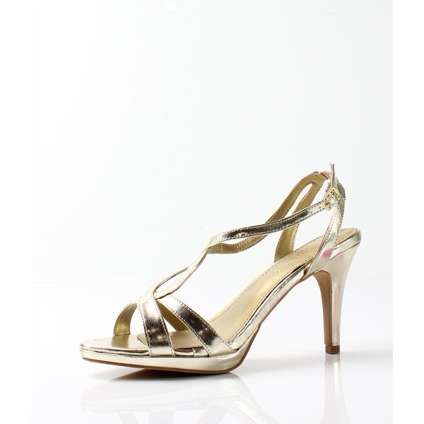 Amiana NEW Gold Women's Shoes Size 8M Strappy Metallic Sandal
