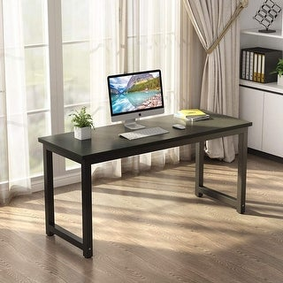 63 Modern Simple Style Computer Desk Large Study Writing Desk With Solid Metal Frame Black From Tribesigns Ibt Shop