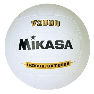 Mikasa V2000 Premium Rubber Volleyball, White