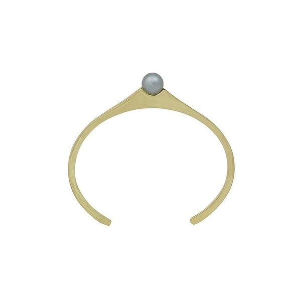House Of Harlow 1960 Womens Cuff Bracelet Orb Faux Pearl - gold/gray