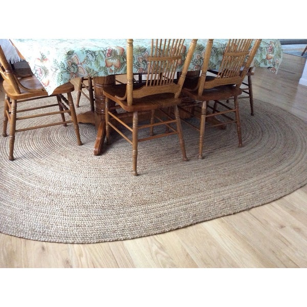 Havenside Home Duck Eco Natural Fiber Braided Reversible Oval Jute Area Rug  (8u0027 X 10u0027)   8u0027 X 10u0027   Free Shipping Today   Overstock.com   13072749