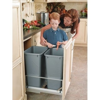 Rev-A-Shelf 5349-SS-52 5349 Series Single Bin Replacement Trash Can - 32 Quart C