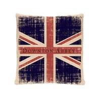 "18"" Downton Abbey British Union Jack Decorative Square Throw Pillow"