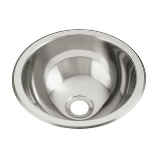 """Sterling 1411-0 13.625"""" Single Basin Drop In or Undermount Stainless Steel Bar Sink with SilentShield"""