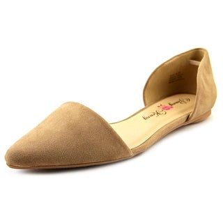 Penny Loves Kenny Nookie Women Pointed Toe Canvas Tan Flats