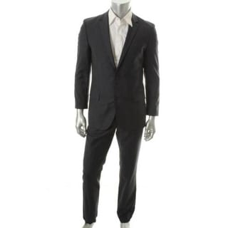 Hugo Hugo Boss Mens Astro/Hill Wool Notch Collar Two-Button Suit - 38R