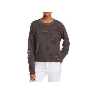 IRO. Jeans Womens Cenix Sweatshirt Distressed Crew - xs