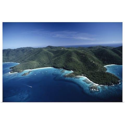 """Trunk Bay, St. John, US Virgin Islands"" Poster Print"