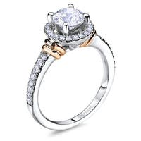 14kt White Gold 0.28CTW Semi Mount Ladies Engagement Ring from the  Signature Accents Collection by Scott Kay