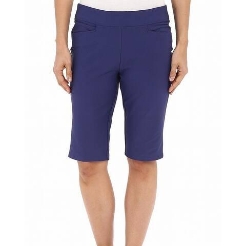 Adidas Purple Womens Size XS Bermuda Stretch Golf Athletic Shorts