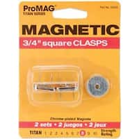 "Square Silver - Promag Magnetic Clasps 3/4"" 2/Pkg"