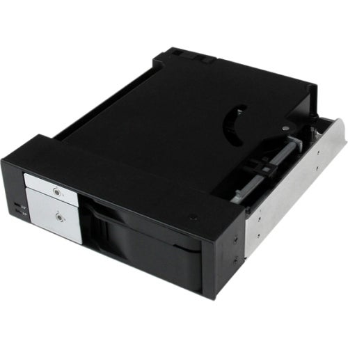 """StarTech HSB2535SATBK StarTech.com Dual Bay 5.25"" Trayless Hot Swap Mobile Rack Backplane for 2.5"" and 3.5"""