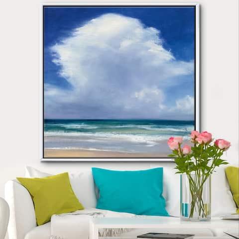 Silver Orchid 'Beach Clouds II' Coastal Landscape Framed Canvas - Blue