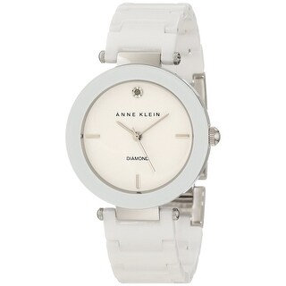 Anne Klein Women's AK-1019WTWT White Ceramic Quartz Fashion Watch