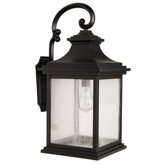 "Craftmade Z3224-11 Gentry Single Light 25-7/8"" High Outdoor Wall Sconce with Clear Seeded Glass"