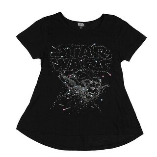 Star Wars Yoda Shirt Girl's Constellation Glitter Pop Costume T-Shirt