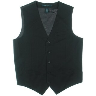 Perry Ellis Mens Woven 3-Pocket Vest