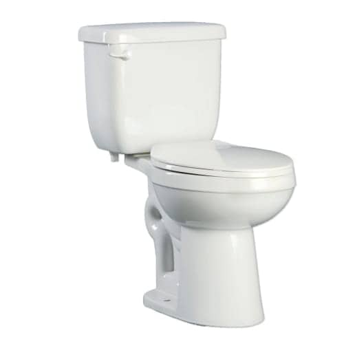 PROFLO PFCT100HE Two-Piece High Efficiency Toilet With Round-Front Bowl and Left Mounted Trip Lever (Seat and Wax Ring Included)