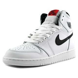 Jordan Air Jordan 1 Retro High Youth Round Toe Canvas White Basketball Shoe