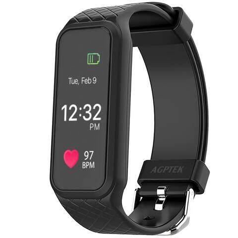 AGPtek Fitness Tracker L38i IP67 Rainproof Smart Wristband for iPhone - M