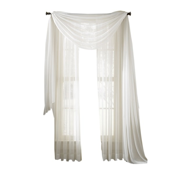 Shop Moshells 63 Sheer Curtain Panel White Free Shipping On