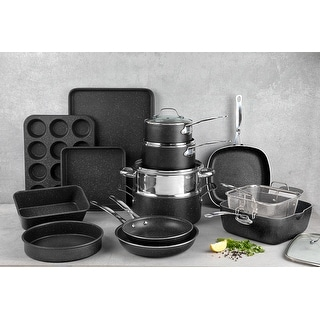 Link to Granitestone Diamond Non Stick 20pc Complete Cookware and Bakeware Set Similar Items in Cookware