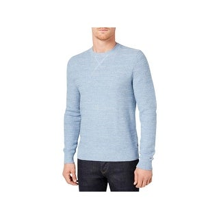 Tommy Hilfiger Mens Crewneck Sweater Long Sleeves Textured - L