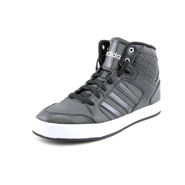 Adidas Bbneo Raleigh Mid Round Toe Leather Sneakers