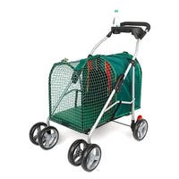 """Kittywalk Emerald Pet Stroller Green 26"""" x 14"""" x 35.5"""""""
