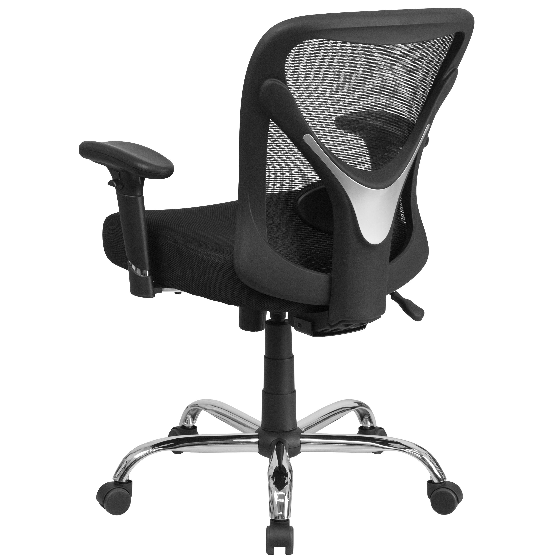 Big Tall 400 Lb Rated Black Mesh Swivel Ergonomic Task Office Chair On Sale Overstock 10125223