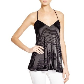 Ella Moss Womens Tank Top Silk Blend Pattern