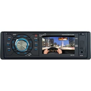 "Supersonic SC-312 Supersonic SC-312 Car DVD Player - 3"" LCD - DVD Video, MPEG-4 - AM, FM - SD, MultiMediaCard (MMC) - USB -"