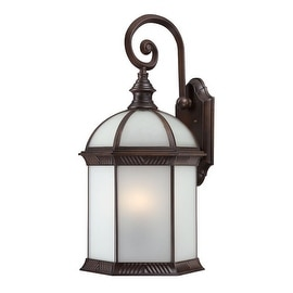 Nuvo Lighting 60/4988 Boxwood ES Single-Light Wall Lantern with Frosted Glass Panels - rustic bronze