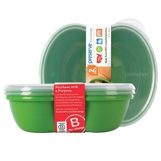 Preserve Food Storage Sandwich Container 25 oz., Apple Green 2 count