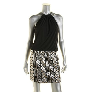 Jessica Simpson Womens Sequined Blousen Party Dress