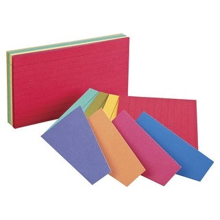 4 x 6 In. Ruled Index Card, Assorted Extreme Color, Pack -