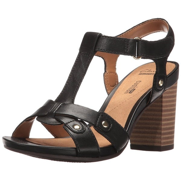 f59509c4cc0b Shop CLARKS Womens Banoy Valtina Leather Open Toe Casual Ankle Strap ...