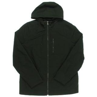 Tommy Hilfiger Mens Windbreaker Jacket Hooded Waterproof - L