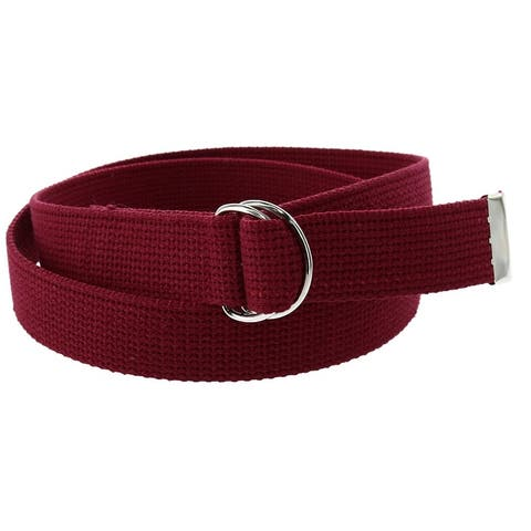 CTM® Cotton Web Belt with D Ring Buckle - one size