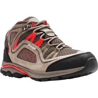 Propet Women's Peak Hiking Boot Gunsmoke/Red Mesh/Nubuck