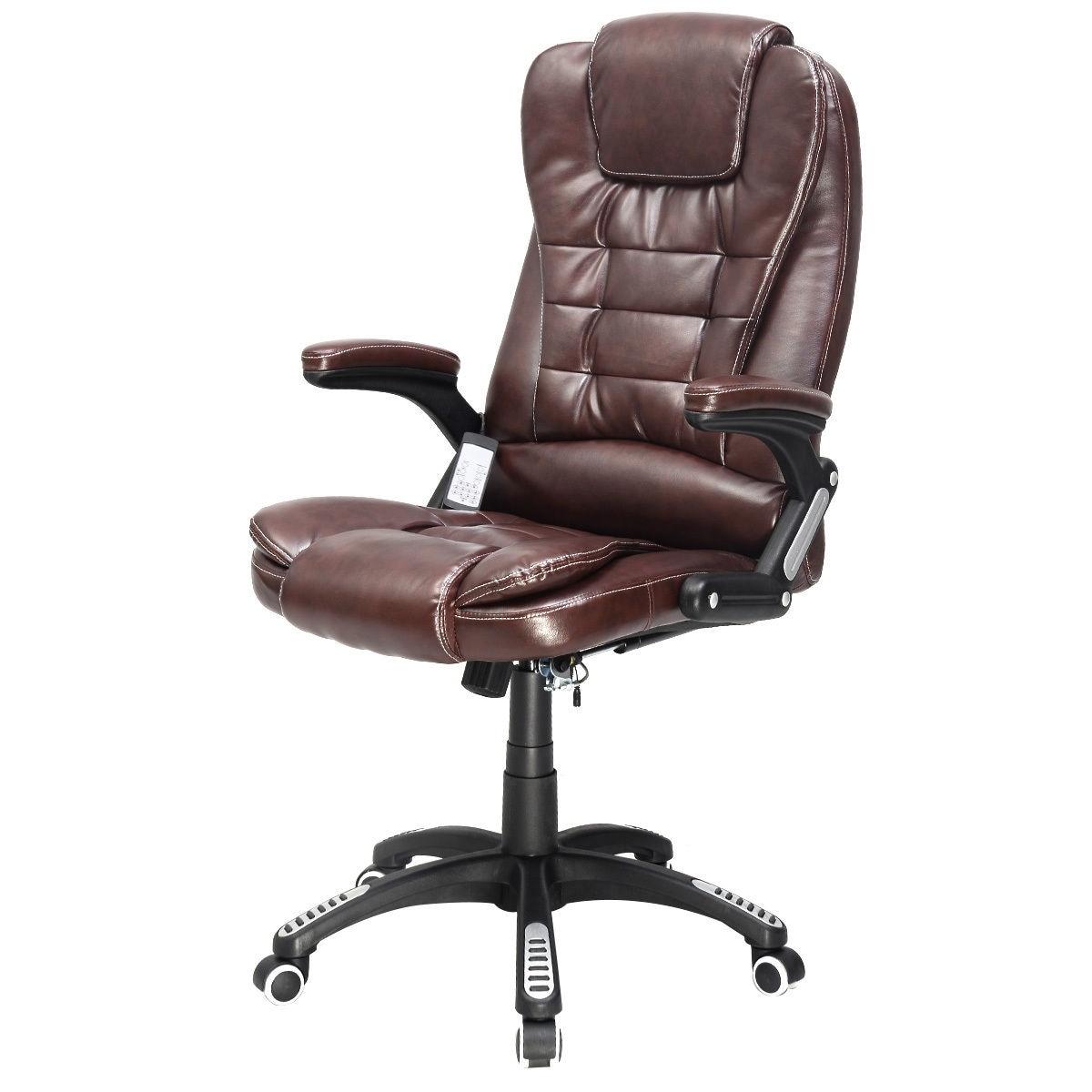 Shop Costway Executive Ergonomic Computer Desk Massage Chair Vibrating Home Office Overstock 18299784