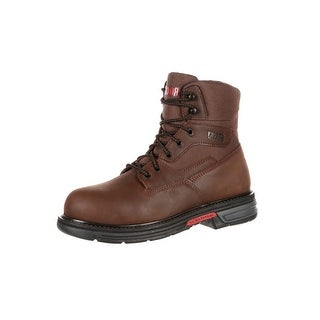 "Rocky Work Boots Mens 6"" Ironclad LT Waterproof Leather Brown"