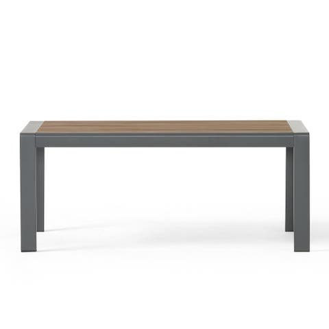 Davos Outdoor Aluminum Outdoor Coffee Table by Christopher Knight Home