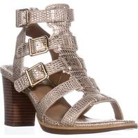 White Mountain Gemmy Block-Heel Dress Sandals, Platinum