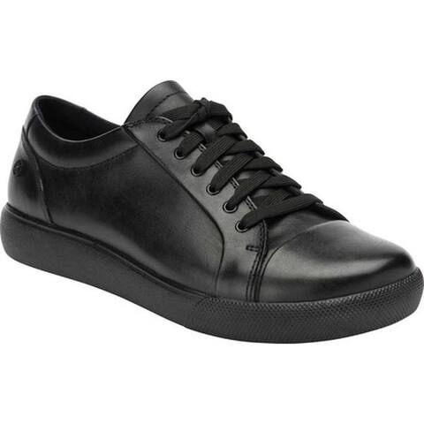 Klogs Women's Galley Sneaker Black Full Grain Leather